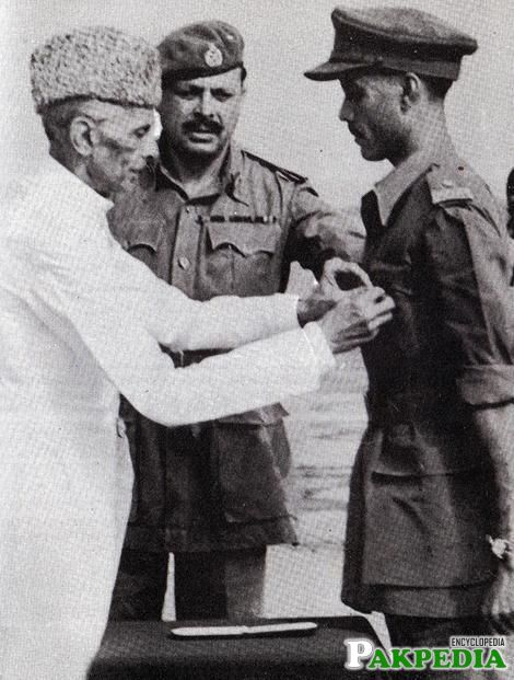 Jinnah with Ayub Khan