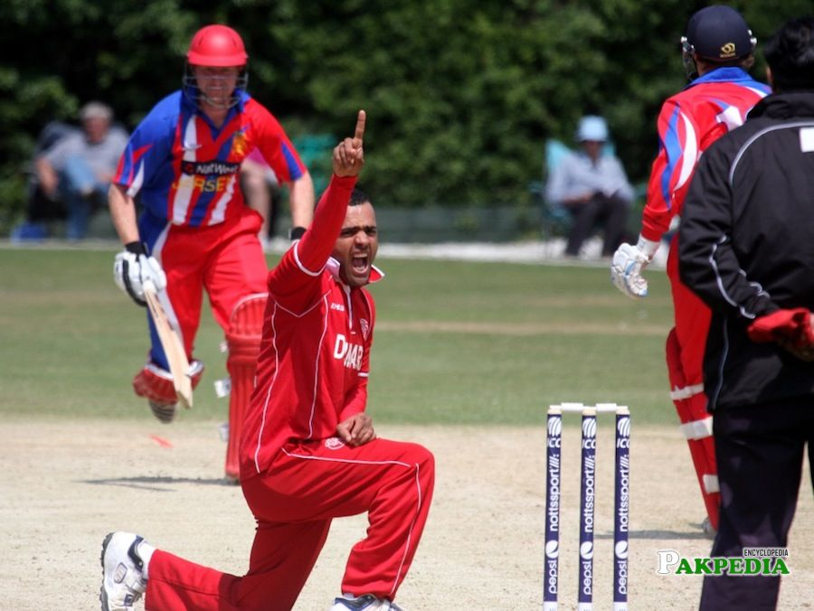 While appealing for Wicket
