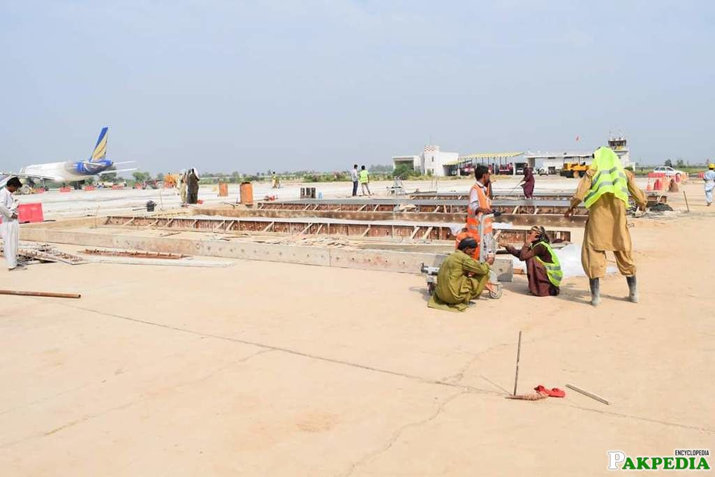 Faisalabad Airport construction side
