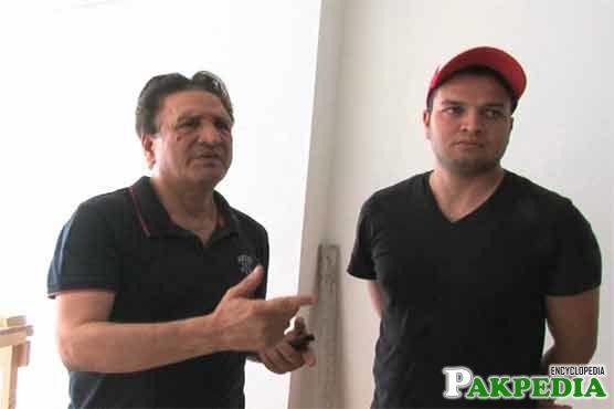 Usman Qadir With His Father Abdul Qadir