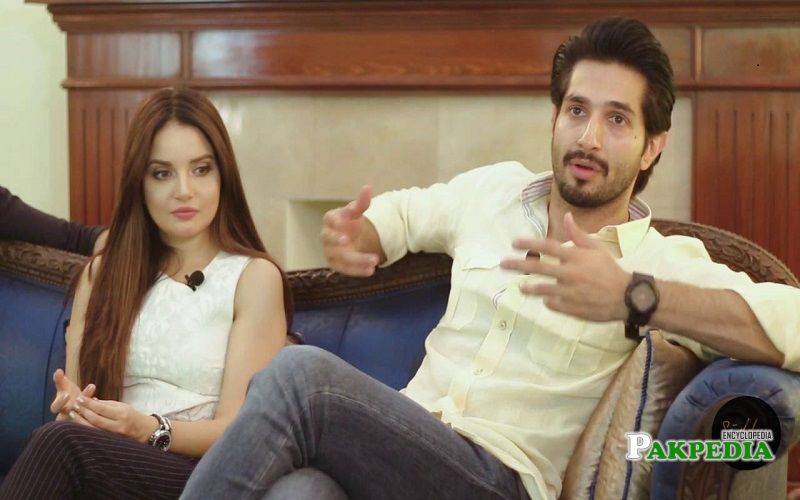 Bilal Ashraf with Armeena Khan during promotions of 'Janaan'