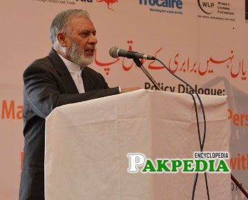 Usman Ibrahim while addressing people