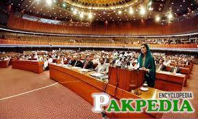 Hina Rabani in the National Assembly