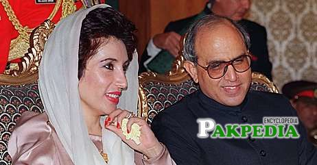 Farooq Leghari with Benazir Bhutto