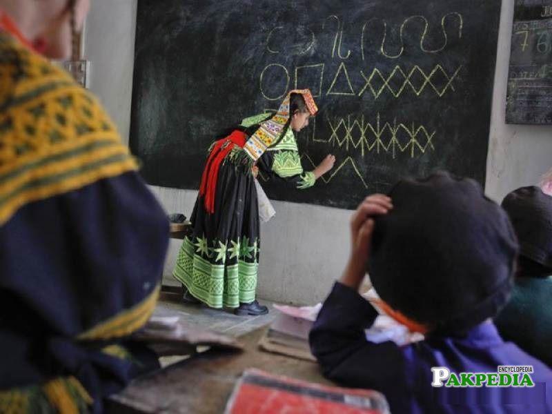 Teacher While Teaching