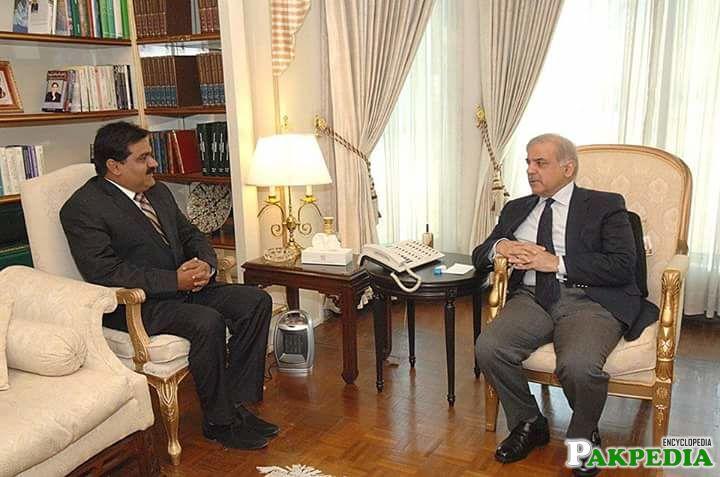 With Shahbaz Sharif