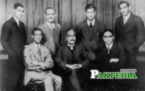 With Allama Iqbal and others