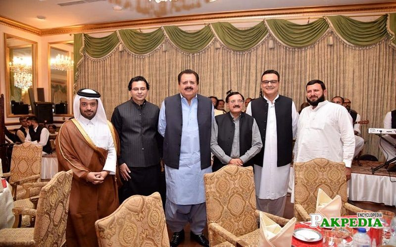 Tahir sadiq at a dinner hosted by imran khan