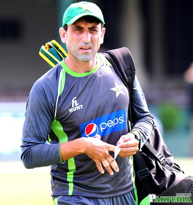 Younus Khan in Training Session