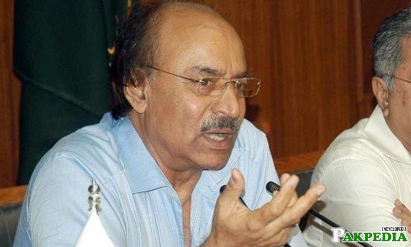Nisar Ahmed Khuhro member of PPP