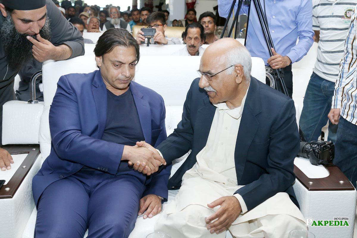 With Shoaib Akhtar