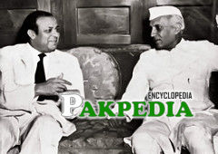 With Jawaharlal Nehru