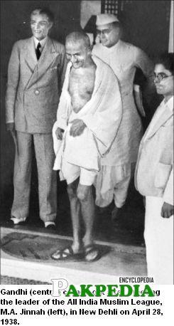 A meeting of Jinnah and Gandhi
