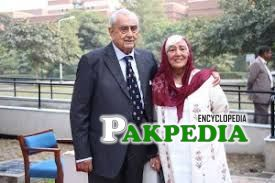 syed Babar Ali with a relative
