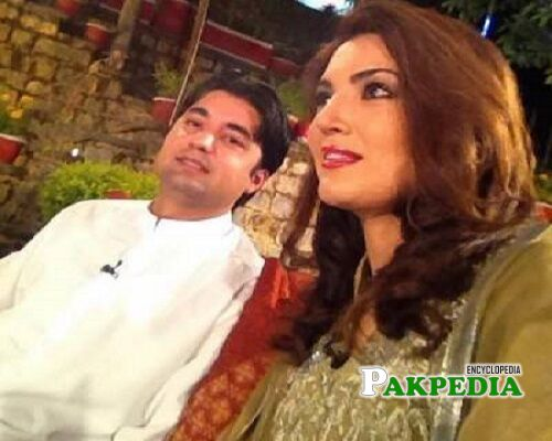 Murad Saeed and Reham Khan