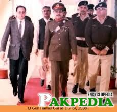 Hameed gul with his soldires and lawer