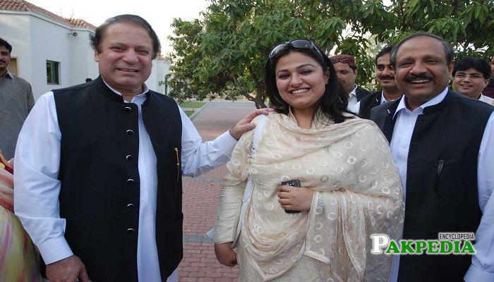 Zeb Jaffar with Mian Nawaz Sharif
