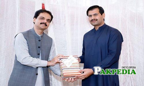 Umar Aftab serving as Parliamentary Secretary of Planning and Development.