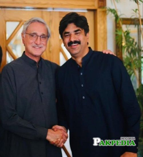 Abdul Hayi Dasti with Jahangir Khan Tareen