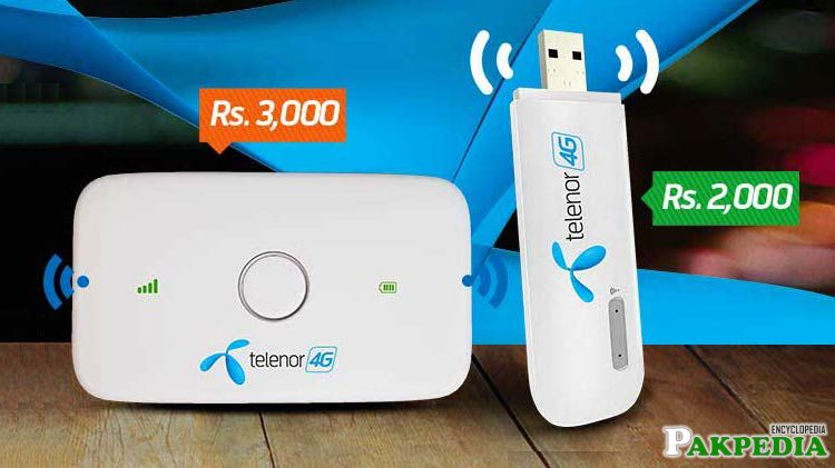 Telenor Launches 4G Wingle and Mobile WiFi Devices with upto 180GBs Data Limit