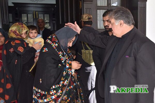 Sanaullah Zehri Family