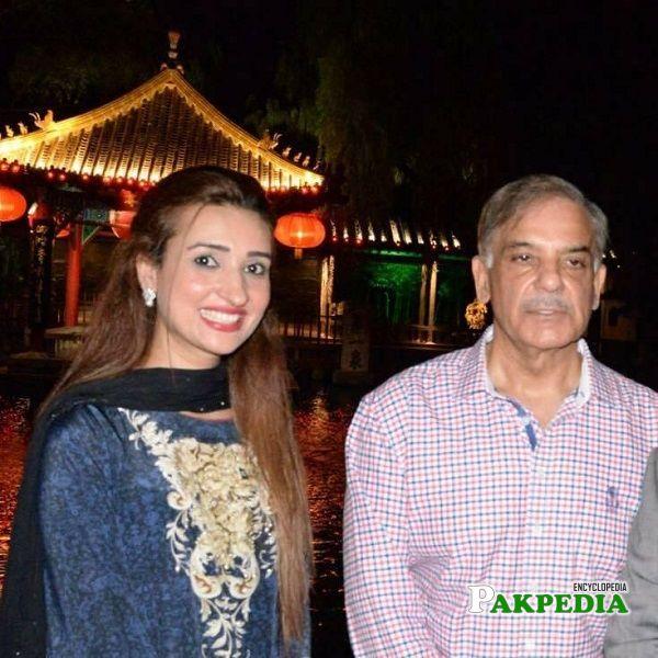 Bushra Anjum with ex chairman of punjab Shehbaz sharif