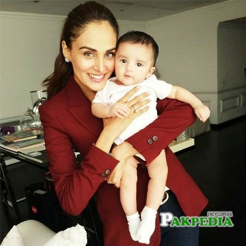 Mehreen with her son