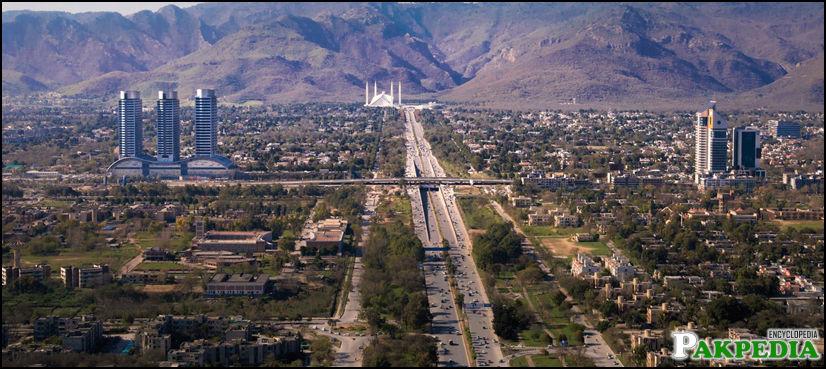 Beautiful View of Islamabad city