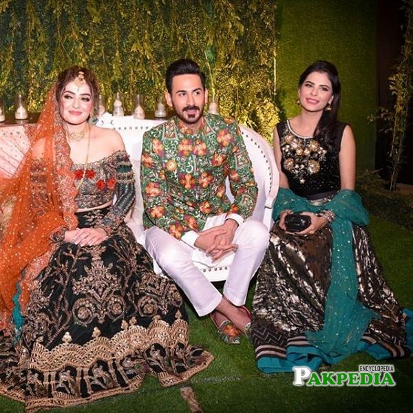Wasia fatima at the wedding of Shan baig