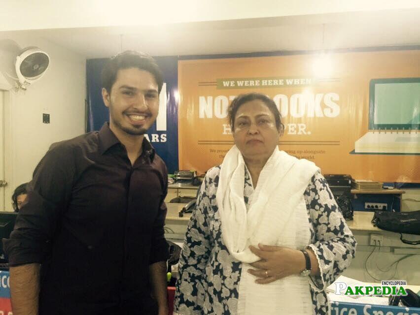 With Muhammad mustafa Ahmed zai