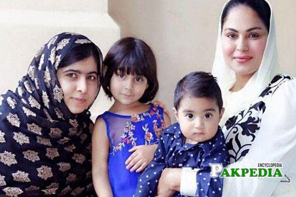 Veena Malik Family