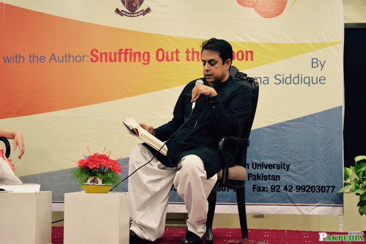 Wonderful launch & discussion for Snuffing Out the Moon at Lahore College for Women University