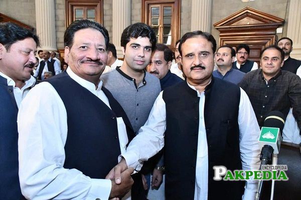 Khurram Sohail Khan with Usman Buzdar in Assembly