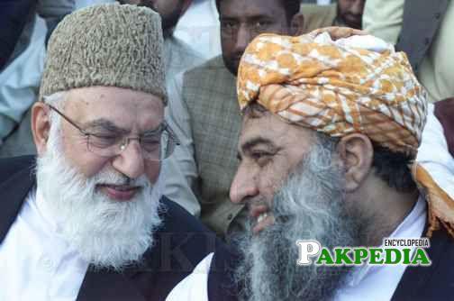 With Maulana Fazal ur rehman