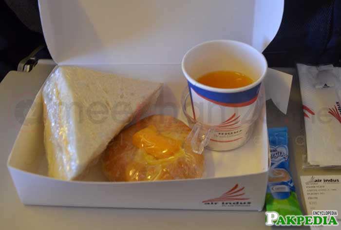 Inflight food | Indus Air Karachi to Islamabad