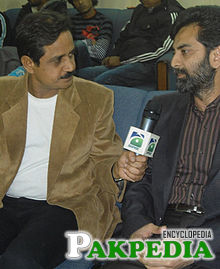 While talking with geo super during Shuhad-e-haq