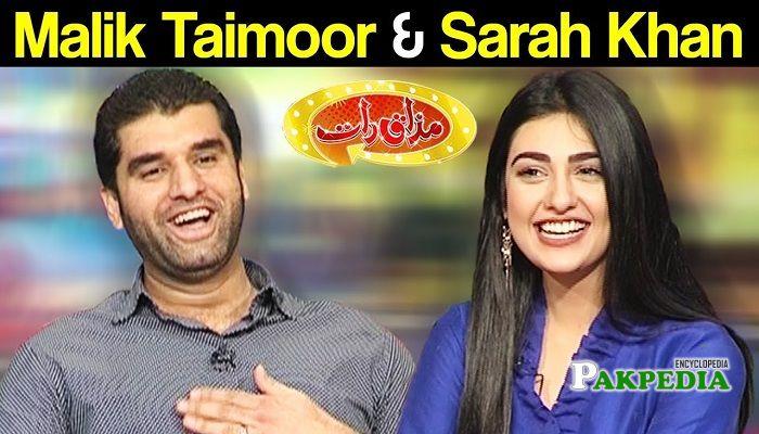 Malik Taimoor Masood in Mazak raat