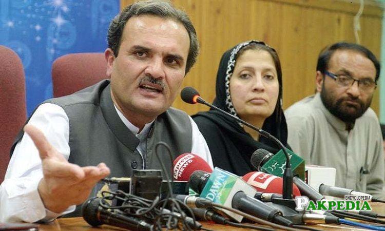 Sitara Ayaz in a senate meeting