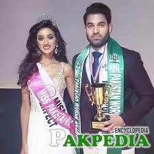 Ramina with Mr pakistan
