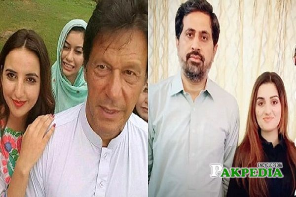 Sandal and Hareem with Politicians of PTI