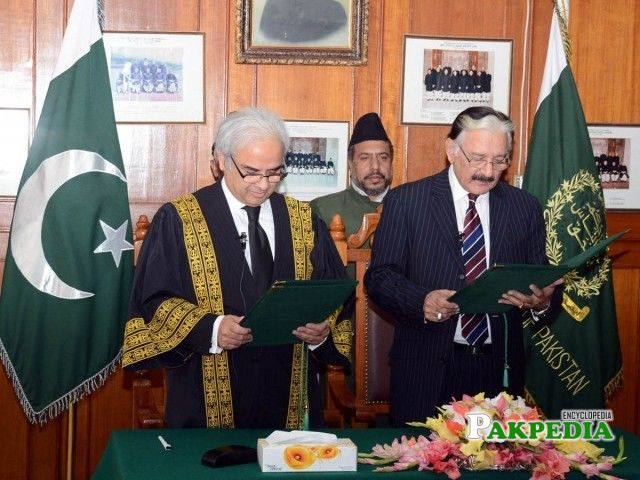 Justice Raza taking oath as CEC