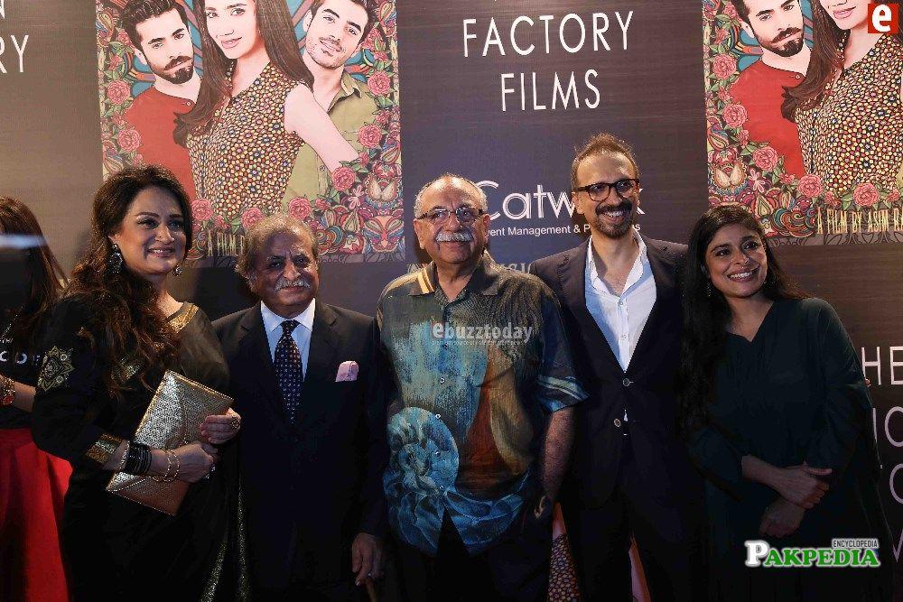 Sana Bucha with the cast of Ho Mann Jahan