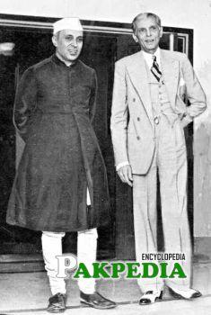Nehru with Quaid-i-Azam