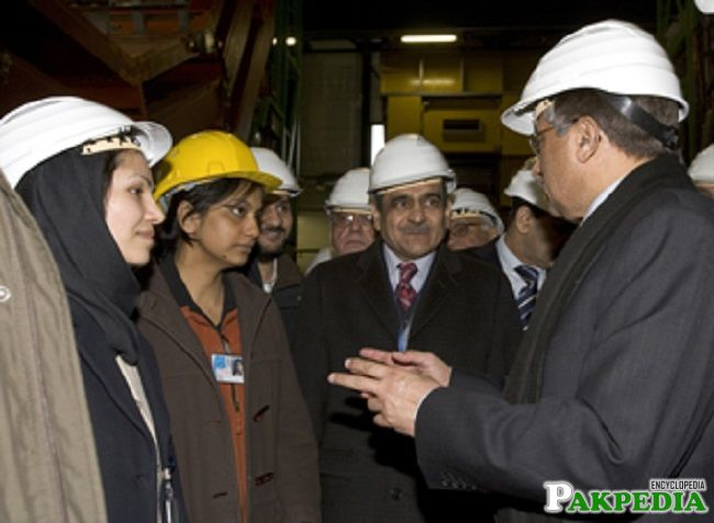 During the Visit of CERN
