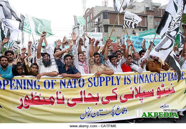 Protest over the Reopening of NATO Supply Routes