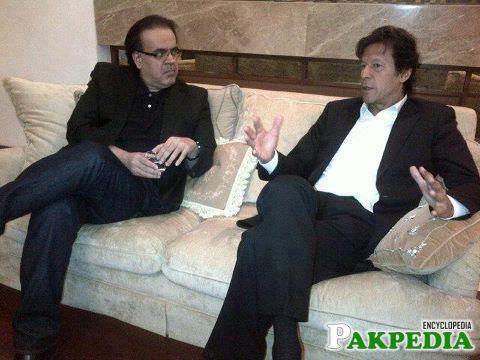 Dr. Shahid Masood With Imran Khan