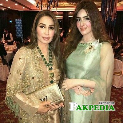 Reema Khan with her younger sister