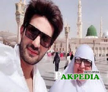 Adeel Chaudhry with his mother