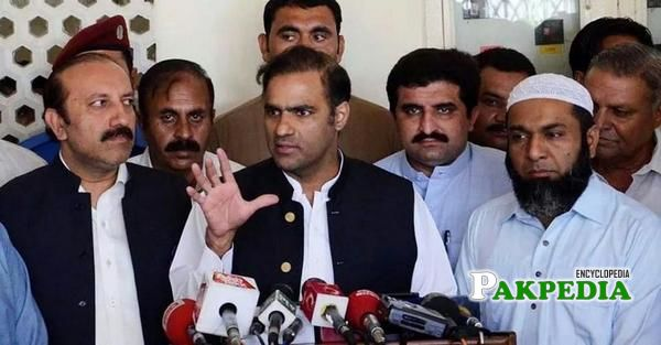 In Front of Media While talking other Leader