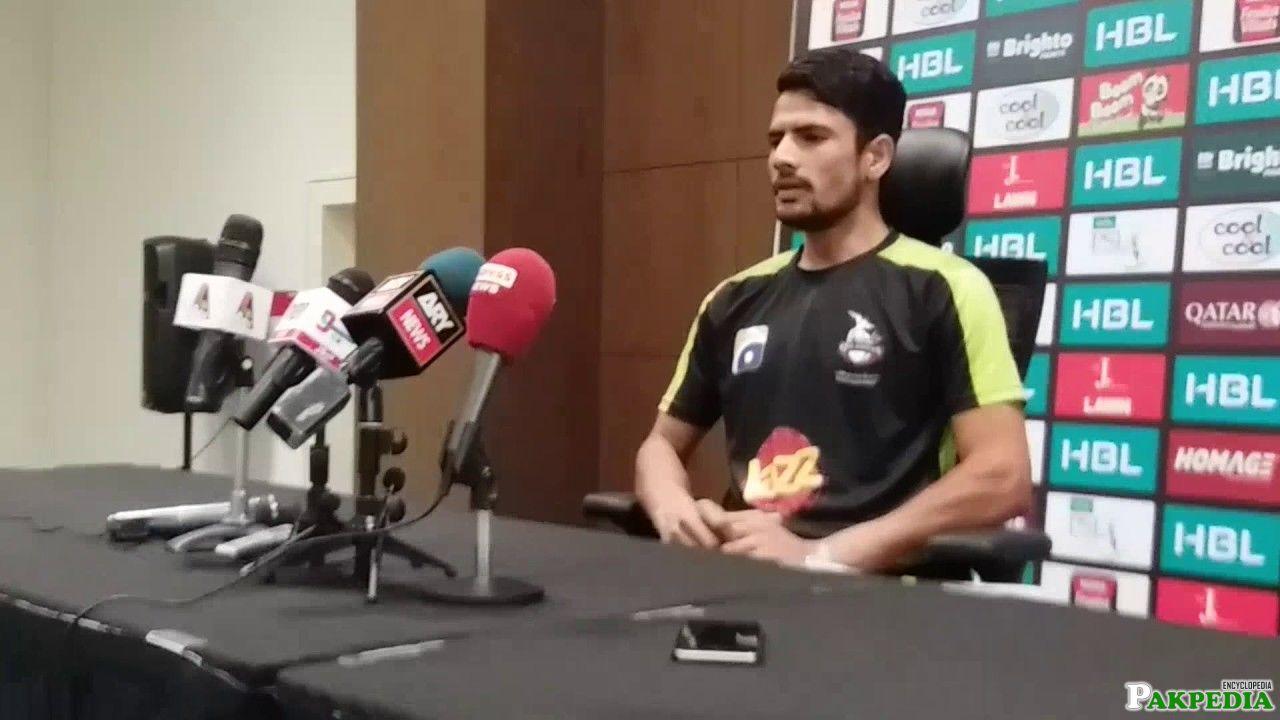Aamer Talking to Media